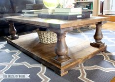 $1800 Restoration Hardware DIY Balustrade coffee table for $200 ..I'm making this!!!