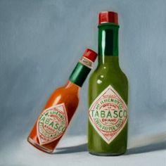 Lauren-Pretorius-Original-Art-Realism-Food-Oil-Painting-Hot-and-Mild-Tabasco