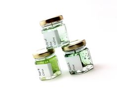 Green In Nature - Scented Mini Candle Sampler by PebbleCreekCandles in etsy #green #home #fragrance