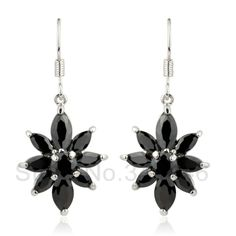free ship Zircon earrings popular Korean version of the exaggerated retro Austrian crystal earrings $8.80