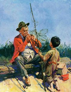 Tangled Fishing Line by WM. Meade Prince Painting Print on Canvas