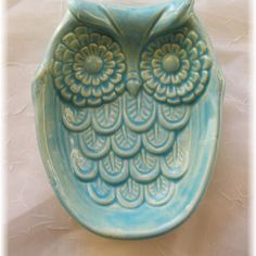 Owl Spoon Rest  Soap  Dish   Home Decor