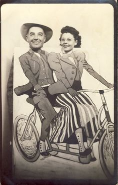 Couple on TANDEM BICYCLE in Studio Novelty Prop by NiepceGallery, $12.00