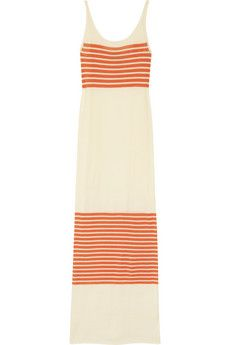 I'd look like a knob in this - but it sure is pretty in 2d!  >>>   Haute Hippie  Striped fine-knit cotton maxi dress