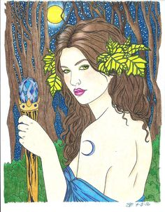 Coloured By Shirley Olson. Used Prismacolor pencils and a white gelly roll pen..