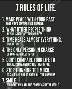 Inspirational quotes - 7 Rules of Life leadership personalgrowth transformation awakening karma karmic balance innerpeace success source unknown Positive Quotes For Life Encouragement, Wisdom Quotes, Me Quotes, Quotes About Karma, Karma Sayings, Karma Quotes Truths, Rules Quotes, Truth Quotes, Fact Quotes