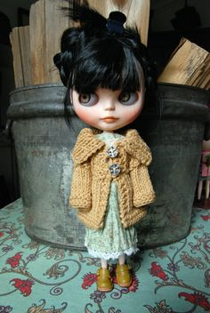 Blythe Doll Knitted Sweater/Jacket by AuntieShrews on Etsy