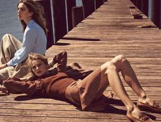 andreea edita jansson3 Andreea Diaconu & Edita Vilkeviciute Model Weekend Style for Vogue Paris by Mikael Jansson