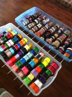 Ribbon organization - this is the idea i have been wanting to do!!!