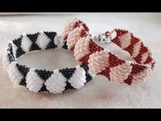 Best Seed Bead Jewelry 2017 Pillow weave bracelet from Ruby Lockwood Seed Bead Tutorials Seed Bead Tutorials, Beading Tutorials, Seed Bead Jewelry, Bead Jewellery, Seed Beads, Beaded Jewelry Patterns, Bracelet Patterns, Handmade Beads, Handmade Jewelry