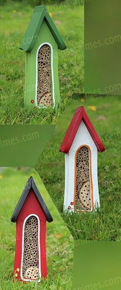 Tour maison hotel à insectes, à accrocher contre un mur