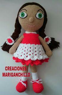 Creaciones Mariganchillo: MUÑECA AMIGURUMI DIDY