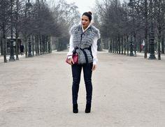 """CELINE GILET """"Hockley does Good Fur"""" @reemkanj #hockleylondon#fur#fur#gilet#outfit#style#blogger#fashionista#Louis#Vuitton#clutch#epi#leather#Yves#Saint#Laurent#bracelet#accessories#fashion#blog#paris#fashion#week#2013"""