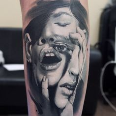 "Check out all of these incredible tattoos by Russian tattoo artist Valentina ""Val Tatboo"" Ryabova. Great Tattoos, Beautiful Tattoos, Body Art Tattoos, Sleeve Tattoos, Portrait Tattoos, Neue Tattoos, Bild Tattoos, Tattoo Foto, I Tattoo"