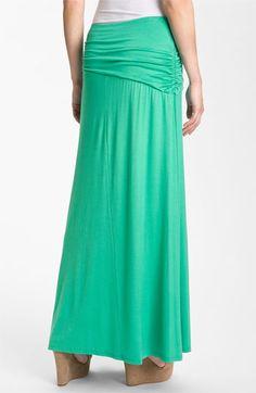 Bobeau Asymmetric Knit Maxi Dress
