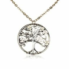 Silver Tree Of Life Circle Pendant Fashion Necklace rococo collection. $12.29. Distressed silver. Very intricate Detailing. Beautifully packaged in its own black velvet pouch.. Lobster claw closure. Save 66% Off!