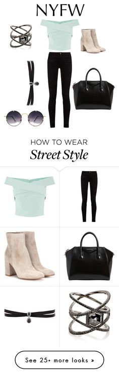 """""""Street style"""" by shraddha-narkhede on Polyvore featuring Gucci, Gianvito Rossi, Givenchy, Fallon, Eva Fehren and Spitfire"""