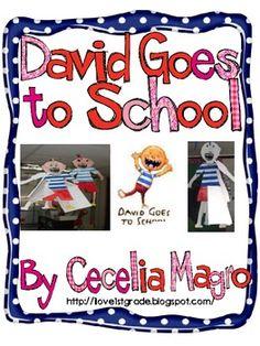 David Goes to School Craftivity Freebie