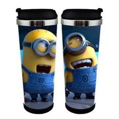 Best value for money! 60 styles Despicable Me 2 Minion cup starbucks anime cup cute travel mug starbucks thermos minion mug Despicable Me 2 Minions, Minion Cup, Kitchen Items, Mug Cup, Kitchen Accessories, Starbucks, Mugs, Bottle, Tumblers