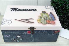 Caixa Manicure Mod.1 Jeans | Dona Abelha | Elo7