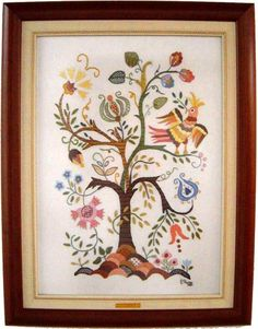 tapeçaria bordada wikipedia - Pesquisa Google Hand Embroidery, My Favorite Things, Frame, Stitches, Design, Home Decor, Color, Tree Of Life, Embroidery Stitches