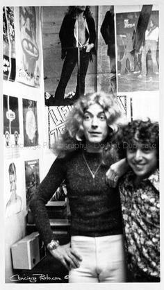 Robert Plant inside Polydor Records 1972