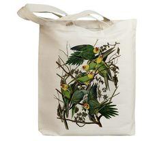 Carolina Parrots Eco Friendly Canvas Tote Bag (id7016) $17.95