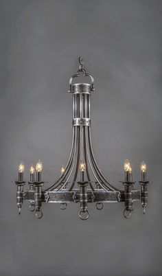 15 stairway lighting ideas for modern and contemporary interiors castillian vintage wrought iron chandelier 9 light aloadofball Images