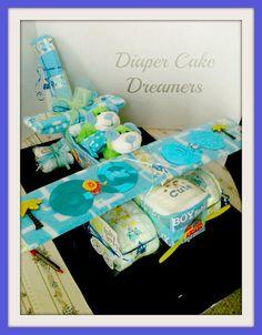 Airplane Diaper Cakes