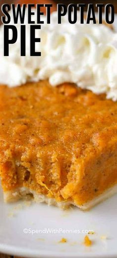 Sweet Potato Pie is a deliciously rich and heavenly dessert that will fit in perfectly at your Thanksgiving table this year! Sweet Potato Pie is a deliciously rich and heavenly dessert that will fit in perfectly at your Thanksgiving table this year! Good Sweet Potato Recipe, Vegan Sweet Potato Pie, Southern Sweet Potato Pie, Sweet Potato Pie Crust Recipe, Simple Sweet Potato Recipes, Sweet Potato Cobbler, Thanksgiving Sweet Potato Recipes, Sweet Potato Cheesecake, Sweet Potato Cookies