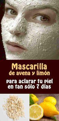 Mascarilla de avena y limón