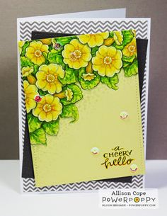 Potted Primroses Stamp Set