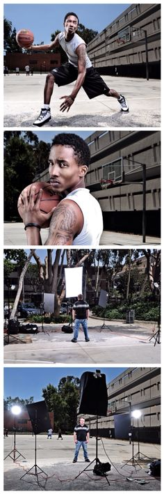 Basketball portraits. Dustin Snipes
