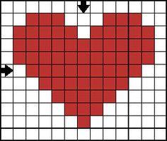 mini cross stitch heart - nice and simple