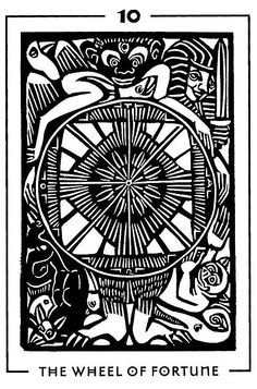 Wheel of Fortune - Light and Shadow Tarot by Michael Goepferd and Brian Williams