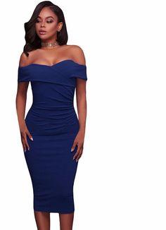 9a1693c95208 Sibybo Off Shoulder Short Sleeve Burgundy Ruffle Summer Dress 2017 Women  Sexy Slim Bodycon Mini Evening Club Dresses | Evening Dresses | Summer  dresses, ...