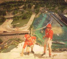 Vintage Disneyland Photographs Cast Members Climbing Matterhorn