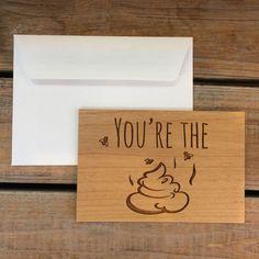 I Love You Card Wood Card Real Wood Card by MineByDesignStudio