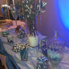 Blue candy table  Potential tablescape - whites