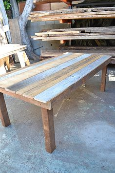 Parson Style Barn Siding Table.  The perfect outdoor table!