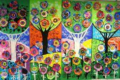 Cassie Stephens: In the Art Room: A Flower-y Mural for Dot Day cassiestephens.blogspot.com