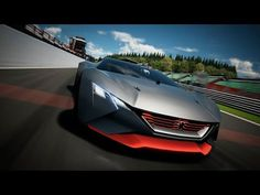 Peugeot has unveiled its concept for Vision Gran Turismo 6 Video Game, it features a 1:1 power-to-weight ratio that is 875kg and 875 bhp.