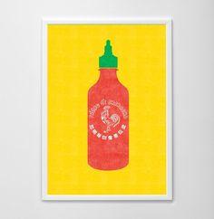Sriracha Poster Art Print ($18)