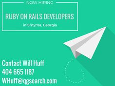 Seeking a Ruby on Rails developer role? Contact Will - we're hiring.