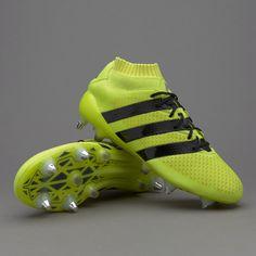 adidas ACE 16.1 Primeknit SG - Mens Boots - Soft Ground - Solar Yellow Core  Black Silver Metallic b0e6c38054fa6