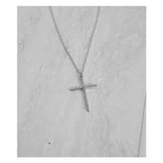 BKE Cross Necklace (£4.15) ❤ liked on Polyvore featuring jewelry, necklaces, silver, cross jewelry, bke jewelry, rhinestone cross necklace, crucifix jewelry and cross necklace
