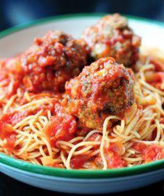 Espaguetti con albondigas