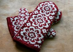 ... Mittens ~~ on Pinterest | Mittens, Mittens pattern and Red mittens