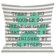 Make a playful statement in the living room or den with this whimsical pillow, showcasing typewriter-inspired text on a striped background. ...
