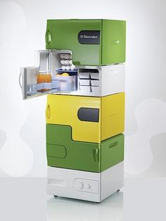 Electrolux fridge -- like the color and design.